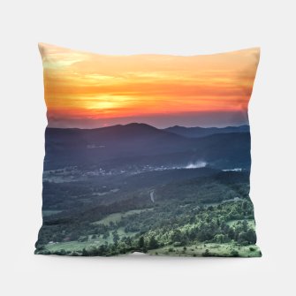 Thumbnail image of Beautiful sunset behind green fields Pillow, Live Heroes