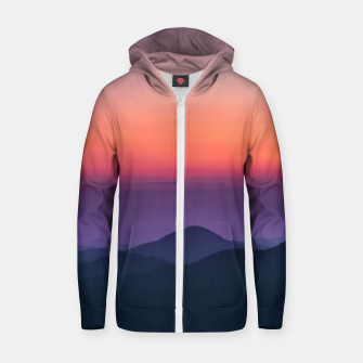 Thumbnail image of Sunset layers Zip up hoodie, Live Heroes