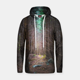 Thumbnail image of Mysterious spruce forest Hoodie, Live Heroes