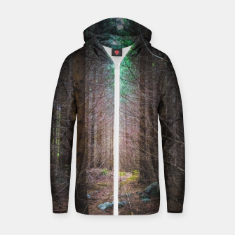 Thumbnail image of Mysterious spruce forest Zip up hoodie, Live Heroes
