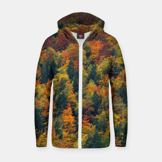Thumbnail image of Stunning autumn forest Zip up hoodie, Live Heroes