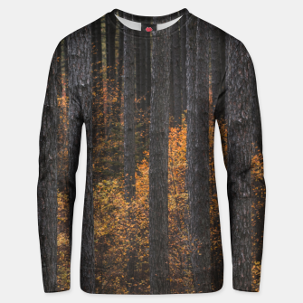 Thumbnail image of Trees and gold autumn foliage Unisex sweater, Live Heroes