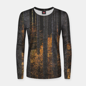 Thumbnail image of Trees and gold autumn foliage Women sweater, Live Heroes