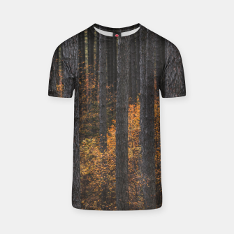 Thumbnail image of Trees and gold autumn foliage T-shirt, Live Heroes