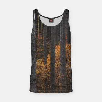 Miniaturka Trees and gold autumn foliage Tank Top, Live Heroes