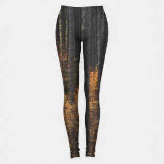Thumbnail image of Trees and gold autumn foliage Leggings, Live Heroes