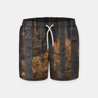 Miniature de image de Trees and gold autumn foliage Swim Shorts, Live Heroes
