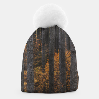 Thumbnail image of Trees and gold autumn foliage Beanie, Live Heroes