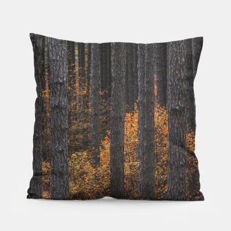 Thumbnail image of Trees and gold autumn foliage Pillow, Live Heroes