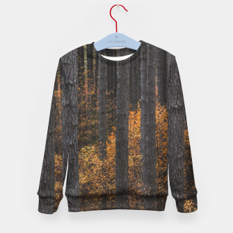 Thumbnail image of Trees and gold autumn foliage Kid's sweater, Live Heroes