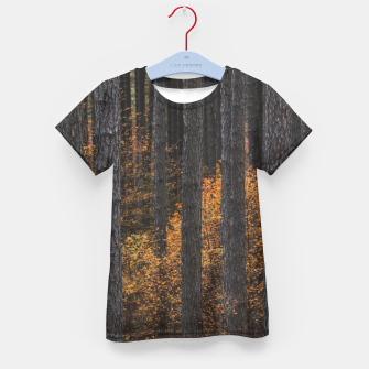 Miniaturka Trees and gold autumn foliage Kid's t-shirt, Live Heroes