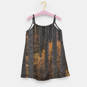 Miniaturka Trees and gold autumn foliage Girl's dress, Live Heroes