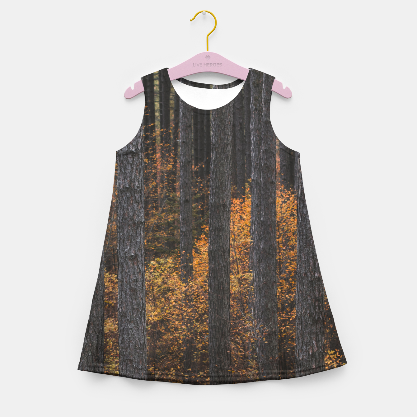 Zdjęcie Trees and gold autumn foliage Girl's summer dress - Live Heroes