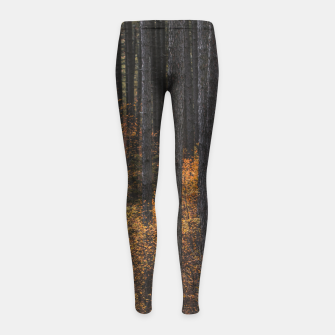 Thumbnail image of Trees and gold autumn foliage Girl's leggings, Live Heroes