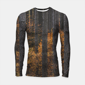 Thumbnail image of Trees and gold autumn foliage Longsleeve rashguard , Live Heroes