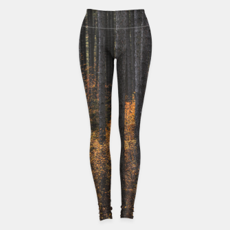Miniature de image de Trees and gold autumn foliage Leggings, Live Heroes