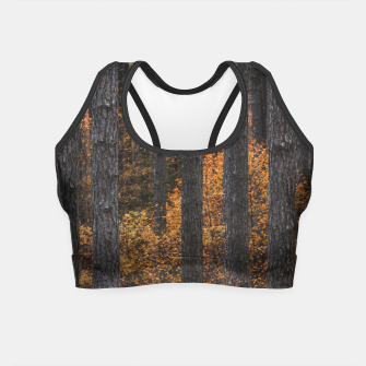 Miniaturka Trees and gold autumn foliage Crop Top, Live Heroes