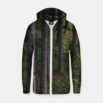 Thumbnail image of Trees and green moss Zip up hoodie, Live Heroes