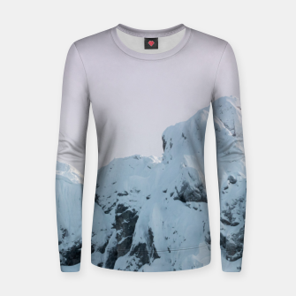 Thumbnail image of Cloudy sky mountain sunset Women sweater, Live Heroes