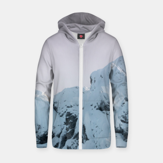 Thumbnail image of Cloudy sky mountain sunset Zip up hoodie, Live Heroes