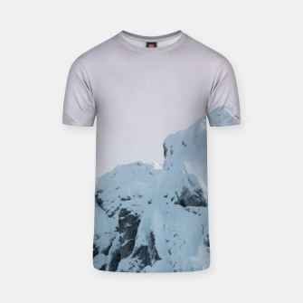 Thumbnail image of Cloudy sky mountain sunset T-shirt, Live Heroes