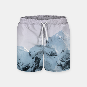 Thumbnail image of Cloudy sky mountain sunset Swim Shorts, Live Heroes