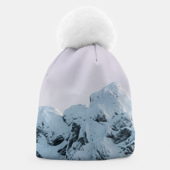 Thumbnail image of Cloudy sky mountain sunset Beanie, Live Heroes