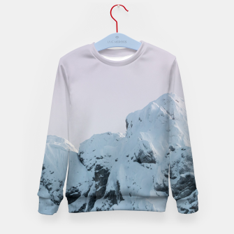 Imagen en miniatura de Cloudy sky mountain sunset Kid's sweater, Live Heroes