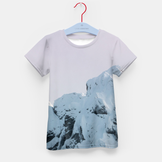 Thumbnail image of Cloudy sky mountain sunset Kid's t-shirt, Live Heroes