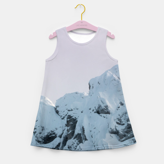 Thumbnail image of Cloudy sky mountain sunset Girl's summer dress, Live Heroes