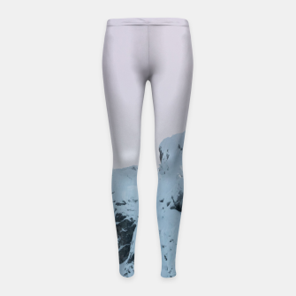 Thumbnail image of Cloudy sky mountain sunset Girl's leggings, Live Heroes