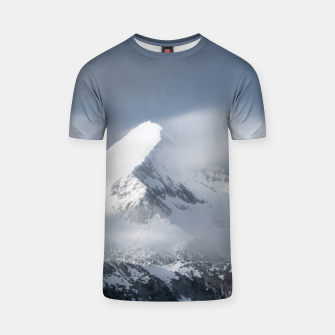 Thumbnail image of Misty clouds over mountain Grintovec, Slovenia T-shirt, Live Heroes