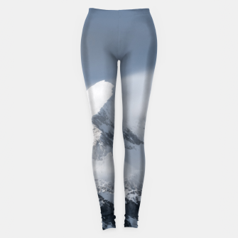 Thumbnail image of Misty clouds over mountain Grintovec, Slovenia Leggings, Live Heroes