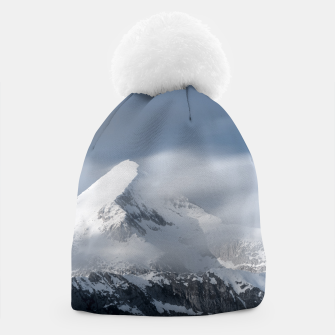 Thumbnail image of Misty clouds over mountain Grintovec, Slovenia Beanie, Live Heroes