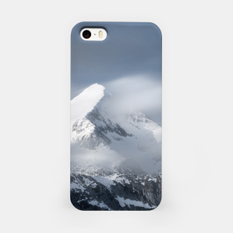Miniature de image de Misty clouds over mountain Grintovec, Slovenia iPhone Case, Live Heroes