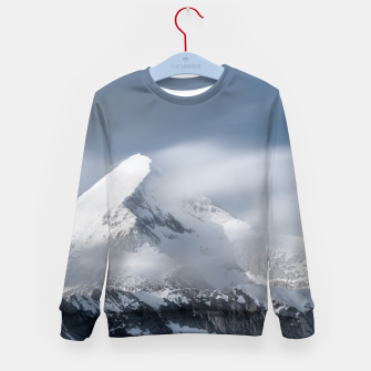 Thumbnail image of Misty clouds over mountain Grintovec, Slovenia Kid's sweater, Live Heroes