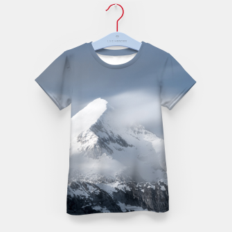 Thumbnail image of Misty clouds over mountain Grintovec, Slovenia Kid's t-shirt, Live Heroes