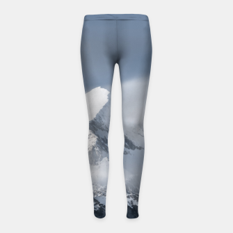 Thumbnail image of Misty clouds over mountain Grintovec, Slovenia Girl's leggings, Live Heroes