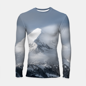 Thumbnail image of Misty clouds over mountain Grintovec, Slovenia Longsleeve rashguard , Live Heroes