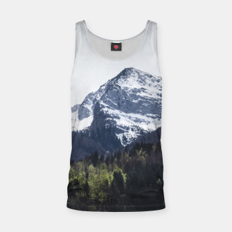 Miniaturka Winter and Spring - green trees and snowy mountains Tank Top, Live Heroes