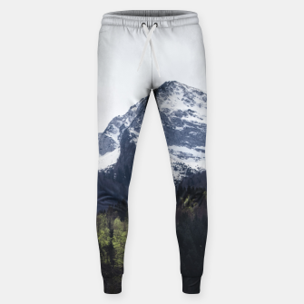 Miniatur Winter and Spring - green trees and snowy mountains Sweatpants, Live Heroes