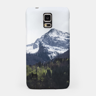 Miniature de image de Winter and Spring - green trees and snowy mountains Samsung Case, Live Heroes