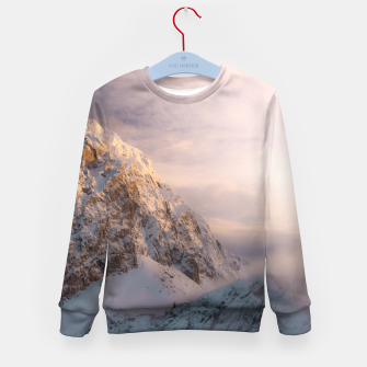 Imagen en miniatura de Stunning light and fog on mountain Kid's sweater, Live Heroes
