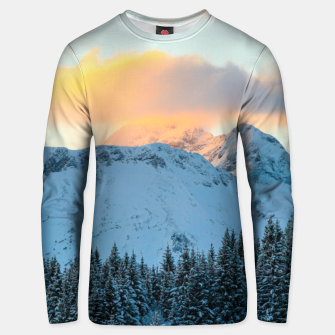 Miniatur Amazing sunset above mountain Triglav, Slovenia Unisex sweater, Live Heroes