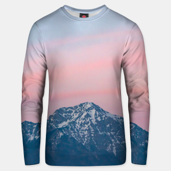 Thumbnail image of Beautiful sunset sky above mountain Storžič, Slovenia Unisex sweater, Live Heroes
