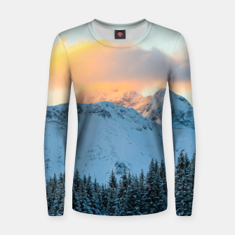 Miniatur Amazing sunset above mountain Triglav, Slovenia Women sweater, Live Heroes