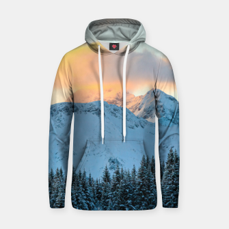 Miniatur Amazing sunset above mountain Triglav, Slovenia Hoodie, Live Heroes