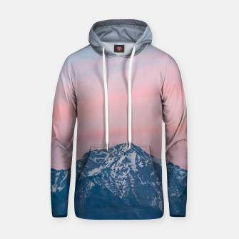 Thumbnail image of Beautiful sunset sky above mountain Storžič, Slovenia Hoodie, Live Heroes