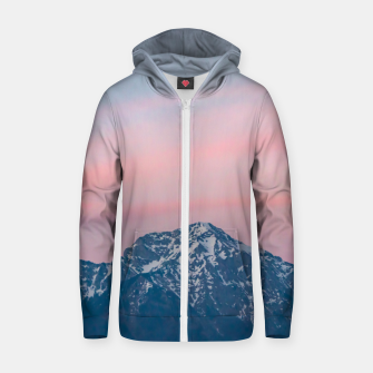 Thumbnail image of Beautiful sunset sky above mountain Storžič, Slovenia Zip up hoodie, Live Heroes