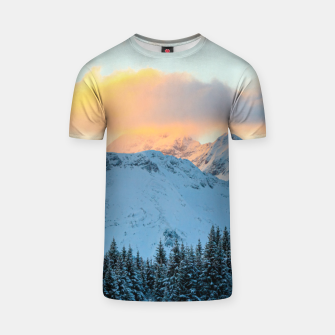 Miniatur Amazing sunset above mountain Triglav, Slovenia T-shirt, Live Heroes